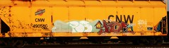 erbs - ? (mightyquinninwky) Tags: railroad logo graffiti tag graf touch tracks indiana railway tags tagged southernindiana railcar rails bling graff graphiti tak trainart paintedtrain railart graincar tisco spraypaintart cnw erbs chicagonorthwesternrailway taggedtrain paintedsteel evansvilleindiana paintedrailcar taggedrailcar