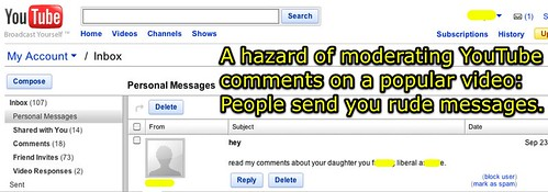 Hazard of moderating YouTube comments