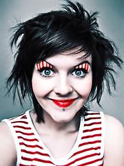 Cheshire cat (basistka) Tags: woman smile cat hair cheshire expression makeup facial basistka