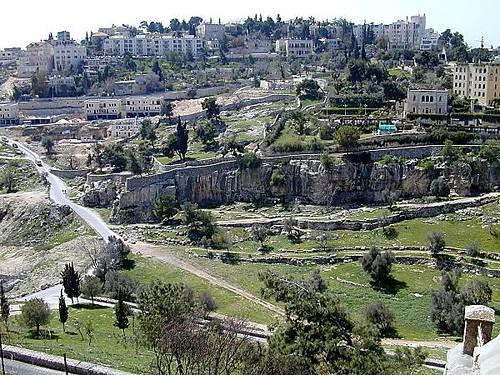 Hinnom Valley from Mount Zion