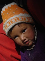 Toddler at Lamayuru monastery, Ladakh