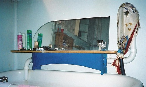 Shelf with mirror