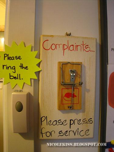 creative complaint buzzer