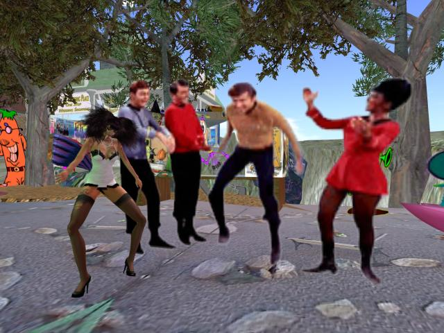 Dancing at UFOWATCHTOWER with the Star Trek Crew