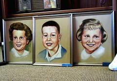Portraits in a collectibles mall, Portland, Oregon