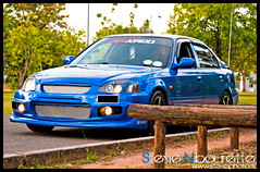 HondaCivic_0275 (Steve Nibourette) Tags: blue cars honda rally subaru modified civic seychelles impreza b18c