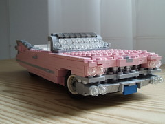 1959 Cadillac Series 62 convertible (3) (Mad physicist) Tags: pink classic lego cadillac caddy 1959 pinkcadillac series62