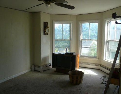realtor's photo of the house. upstairs bedroom