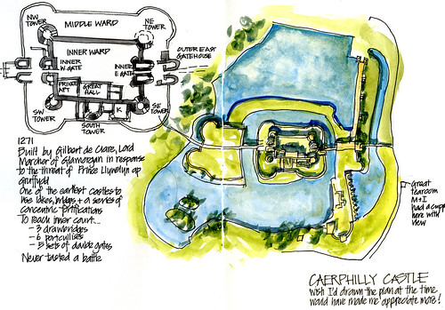 Day01_02a Caerphilly Castle Plan
