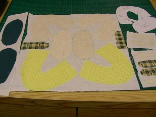 貝貝小黃鞋-紙型及裁布