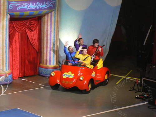 The Big Red car comes on stage