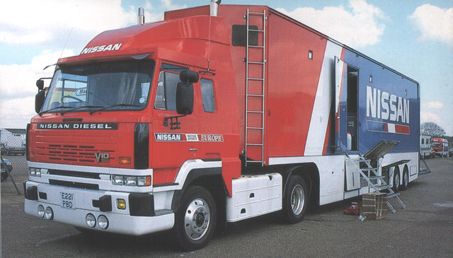 nissan diesel racing lorry transporter hgv r89c