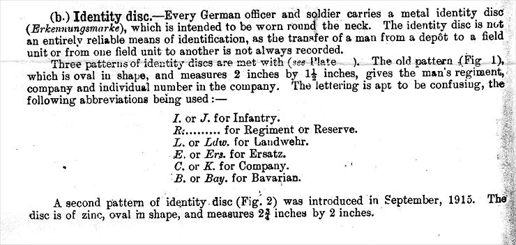 From -The Handbook of the German Army at War, April 1918 (British General Staff)
