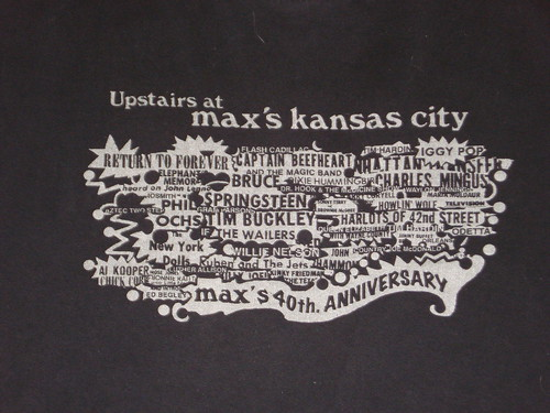 Max's Kansas City 40th Anniversary t-shirt (Close-up)