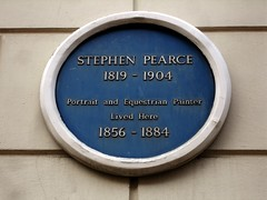 Photo of Stephen Pearce blue plaque