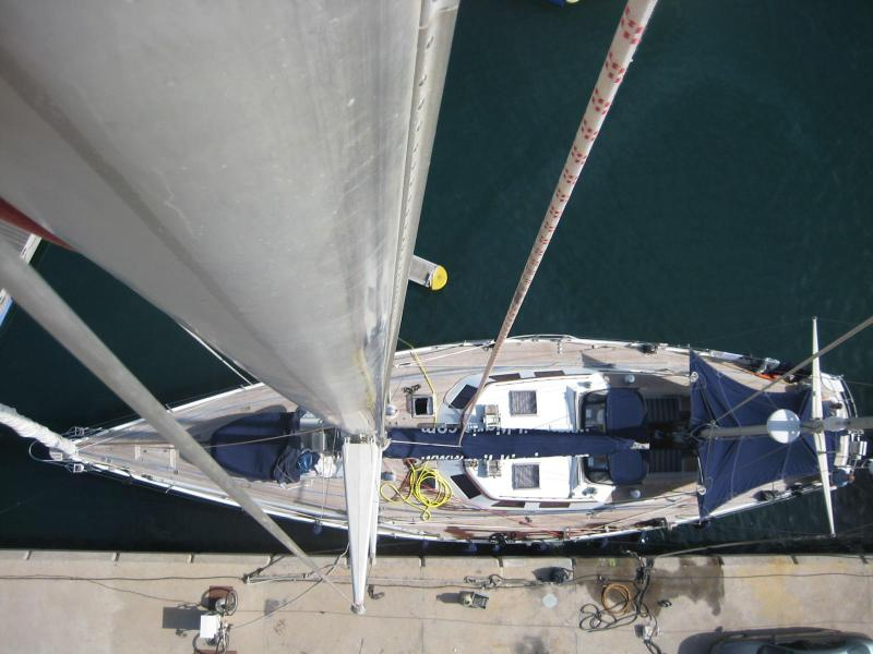 Wild Tigris - view down the mast