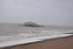 DSC_0023 (Peter-Williams) Tags: november sea water pier seaside brighton waves shingle gales seafront swell groyne 2009 breakwater beaking