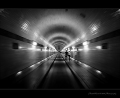 Tunnel Vision 2009 (oliver's | photography) Tags: light monochrome photoshop canon germany dark eos mono focus flickr raw view image hamburg  perspective tunnel spotlight pointofview vision adobe frame processing 2009 treatment copyrighted centric centralpoint pixelwork blackwhitephotos canoneos50d photoscape adobephotoshoplightroom sigma1770mmf2845dchsm doubledragonawards pixelwork2009photography oliverhoell allphotoscopyrighted