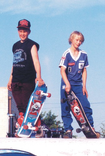 Rodney & Josh on Pipeline Pipe 5-8-88 - Close-Up by fotofreddie1.