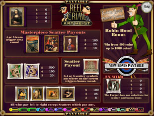 free Reel Crime 2 Art Heist slot mini symbol