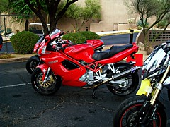Ducati ST3 (Monkey Wrench Media) Tags: red bike bicycle chrome cycle motorcycle ducati exhaust duc gupta sportsbike st4 st2 st3 fairings agupta