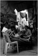 Back street life (Yubai K) Tags: street old people blackandwhite bw living nikon cambodia southeastasia quiet decay district phnompenh streetphoto resting backlanes d80 กัมพูชา พนมเปญ