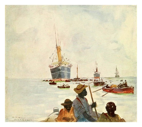 023-Descarga de barcos en Barbados-The West Indies 1905- Ilustrations Archibald Stevenson Forrest