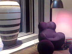 Seating inside Hotel Missoni bar, Edinburgh