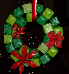 Origami Wreath (ebygomm) Tags: christmas paper origami wreath