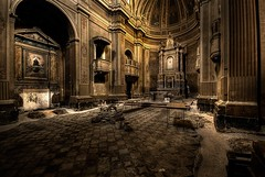 view of the cathedral (Mr.Baldo) Tags: abandoned lost decay military exploration abandonedplaces abbandono industrialarchitecture decadenza perduto intruders baldo intruding industrialarcheology esplorazione abandoneditaly mrbaldo