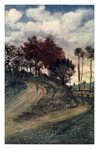 005- Una carretera cerca de Rouen-Normandy-1905- Ilustrado por Nico Jugman