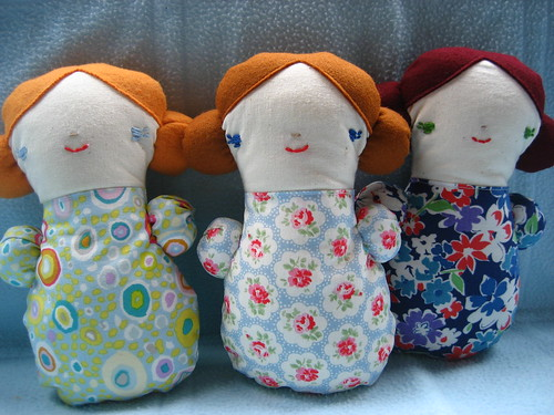 Three sleepover dolls