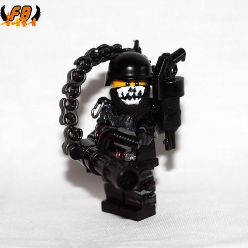 Custom minifig Modern Warrior - Heavy Gunner - Front