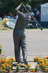 Mid-Swing Statue