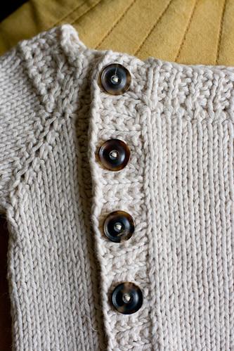 Offset Cardigan - Buttons