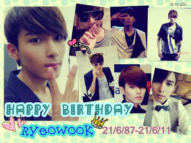 HAPPY BIRTHDAY KIM RYEOWOOK!!!!!!!