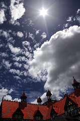 rotorua museum roof 7 (Bilderschreiber) Tags: roof newzealand sky museum rotorua himmel northisland dach neuseeland nordinsel