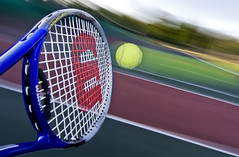 Wimbledon, Here I Come! (Bobonacus) Tags: longexposure abstract motion blur ball tennis panning wimbledon racket raquet