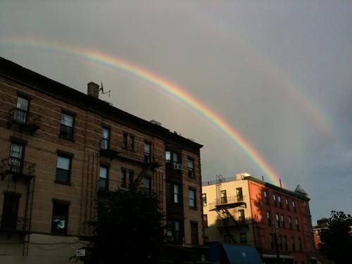 Rainbow over Clinton Hill