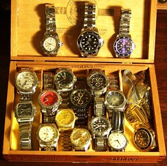 My Metal Banded Watches (alexkerhead) Tags: old sport vintage fossil pieces wind watches time swiss tag grand retro casio mc made automatic pro diver manual timex titanium quartz invicta seiko wenger gruen clocks rolex chronograph voltaire jewel heuer relic technica germinal wristwatches ediface