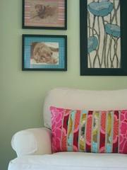 Mini Living Room Make-Over (Niesz Vintage Fabric) Tags: pink home interiors cottage livingroom vintagefabric decorating homesweethome showyourhouse cottagedecorating shadesofinspiration 800sqfthome