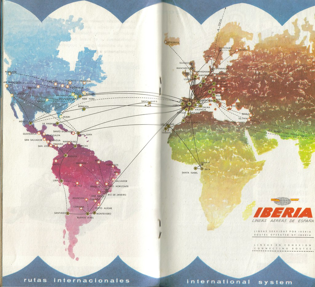 An old Iberia Airlines brochure by Septem Trionis via Flickr
