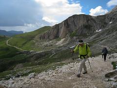 Friedrich August Weg, trekking in Sassolungo Group, Dolomites