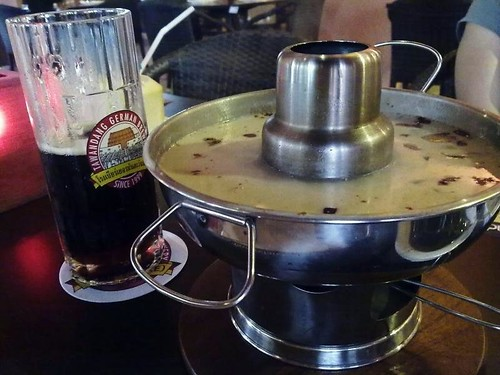 Dunkel Bier and Tom Kha Gai