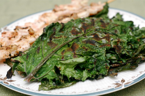 Coconut Grilled Kale & Chard