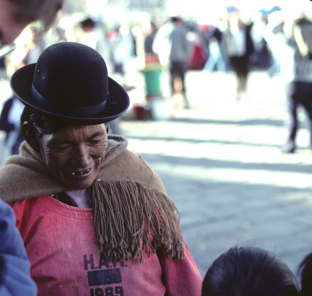 Bolivian Woman with the Bowler Hat