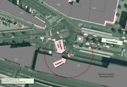 Position Videokameras Bahnhof Lausanne
