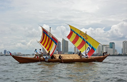 The Balangay prepares to set sail