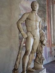A Youthful Beardless Herakles Roman copy of 5th century BCE Greek original by Polykleitos (mharrsch) Tags: youth club greek roman lion hero hercules beardless herakles palazzoaltemps polykleitos mharrsch snaptweet