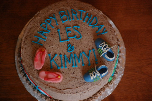 Les and Kimmy's Birthday Cake